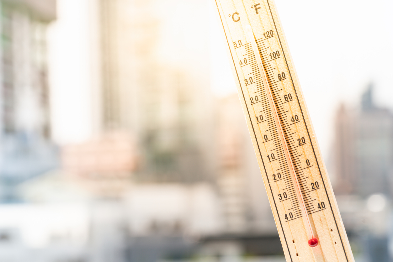 Global-warming-thermometer